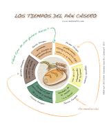 Infografía - Los tiempos del pan casero